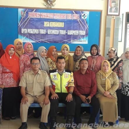 Musyawarah Masyarakat Desa (MMD) bersama Puskesmas Tuban