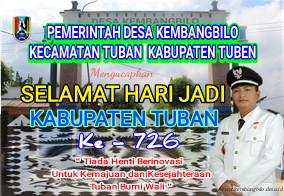 Selamat Hari Jadi Ke - 726 Kabupaten Tuban