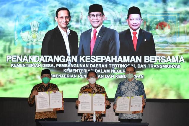 MoU Tiga Menteri untuk membangun SDM di Desa